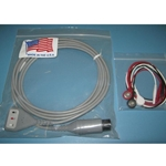 New 3 Lead, 6-Pin EKG / ECG Cable for Spacelabs, Invivo & Others with Snap Leads