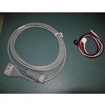 New 3 Lead, 8-Pin EKG / ECG Cable for Hewlett Packard / Agilent / Philips with Snap Leads