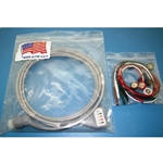 New 5 Lead, 12-Pin EKG / ECG Cable for Hewlett Packard / Agilent / Philips with Snap Leads