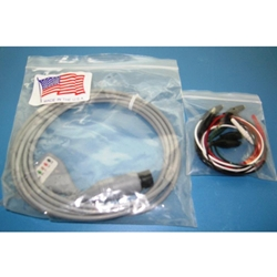 New 5 Lead, 6-Pin EKG / ECG Cable for Invivo, Spacelabs, Datascope & Others with Alligator Leads
