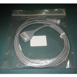 New 5 Lead, 8-pin EKG / ECG Cable for Hewlett Packard / Agilent / Philips